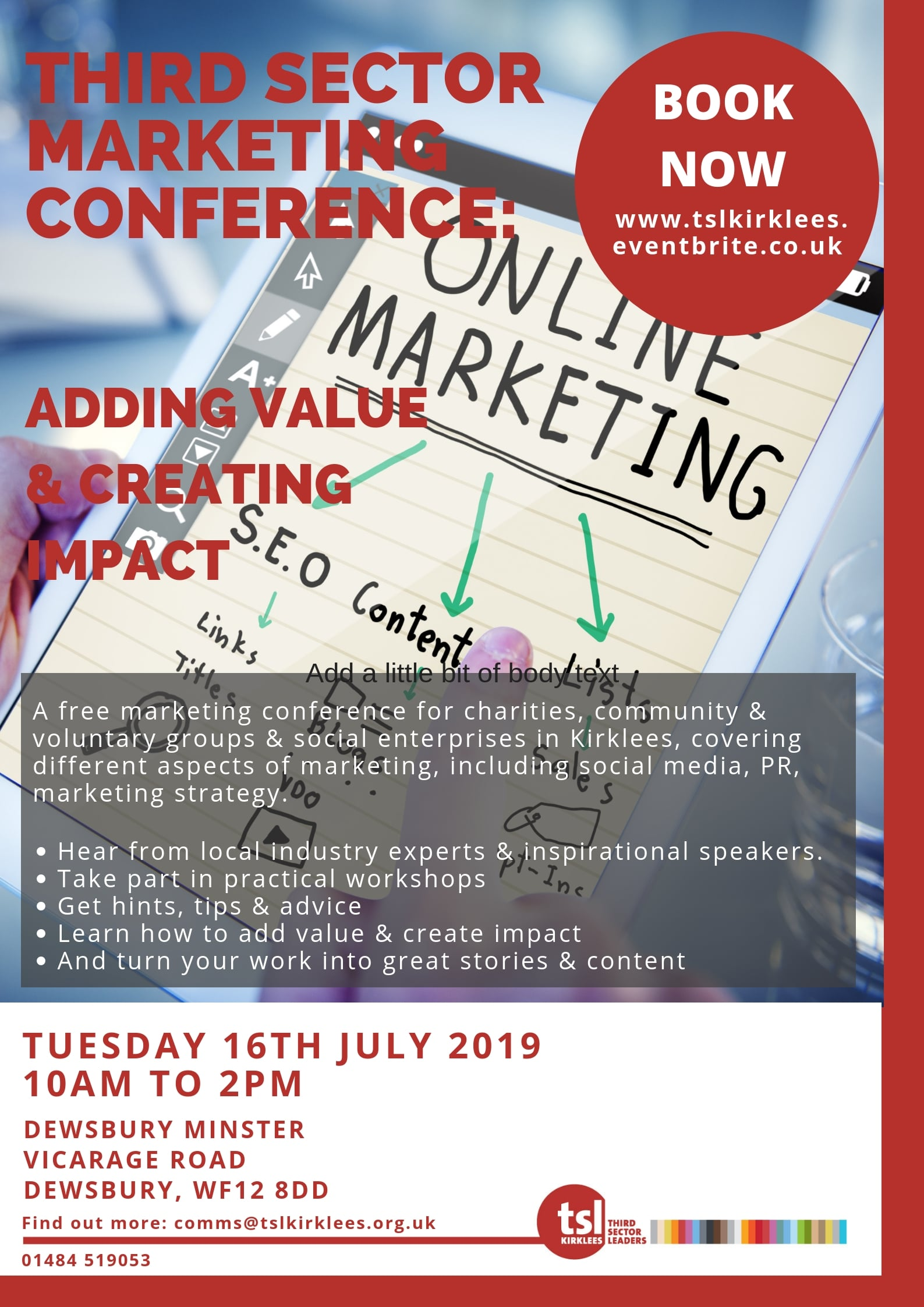 TSL Marketing Conference Flyer
